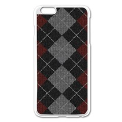 Wool Texture With Great Pattern Apple iPhone 6 Plus/6S Plus Enamel White Case