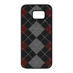 Wool Texture With Great Pattern Samsung Galaxy S7 Edge Black Seamless Case