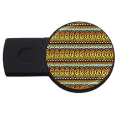 Bohemian Fabric Pattern USB Flash Drive Round (1 GB)