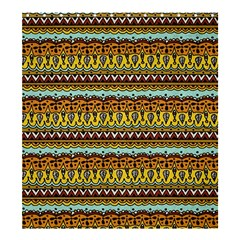 Bohemian Fabric Pattern Shower Curtain 66  x 72  (Large)