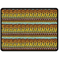 Bohemian Fabric Pattern Fleece Blanket (large)