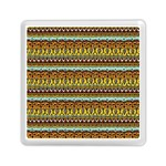 Bohemian Fabric Pattern Memory Card Reader (Square)  Front