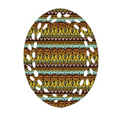 Bohemian Fabric Pattern Ornament (Oval Filigree)