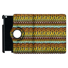 Bohemian Fabric Pattern Apple iPad 2 Flip 360 Case