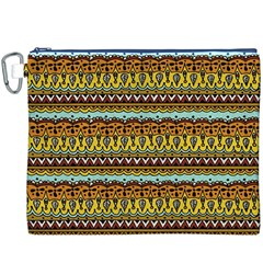 Bohemian Fabric Pattern Canvas Cosmetic Bag (XXXL)