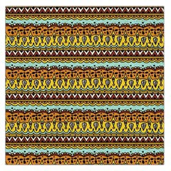 Bohemian Fabric Pattern Large Satin Scarf (Square)