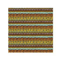 Bohemian Fabric Pattern Small Satin Scarf (Square)