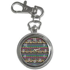 Aztec Pattern Cool Colors Key Chain Watches
