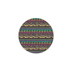 Aztec Pattern Cool Colors Golf Ball Marker