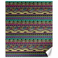 Aztec Pattern Cool Colors Canvas 8  X 10