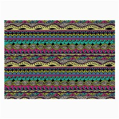 Aztec Pattern Cool Colors Large Glasses Cloth (2 Side)