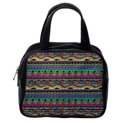 Aztec Pattern Cool Colors Classic Handbags (one Side)