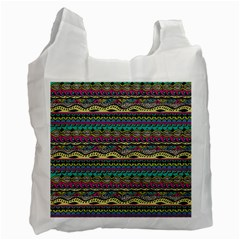 Aztec Pattern Cool Colors Recycle Bag (two Side)