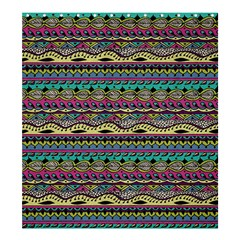 Aztec Pattern Cool Colors Shower Curtain 66  x 72  (Large)
