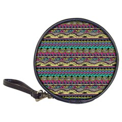 Aztec Pattern Cool Colors Classic 20-CD Wallets