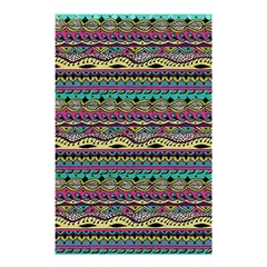 Aztec Pattern Cool Colors Shower Curtain 48  x 72  (Small)