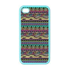 Aztec Pattern Cool Colors Apple Iphone 4 Case (color)