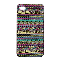 Aztec Pattern Cool Colors Apple Iphone 4/4s Seamless Case (black)