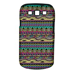 Aztec Pattern Cool Colors Samsung Galaxy S III Classic Hardshell Case (PC+Silicone)