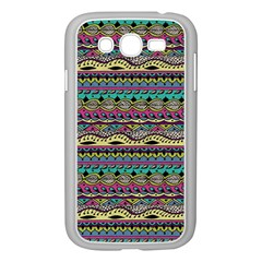 Aztec Pattern Cool Colors Samsung Galaxy Grand DUOS I9082 Case (White)