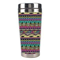 Aztec Pattern Cool Colors Stainless Steel Travel Tumblers