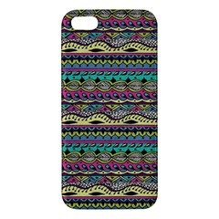 Aztec Pattern Cool Colors iPhone 5S/ SE Premium Hardshell Case