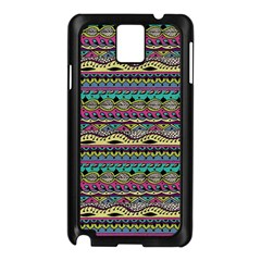 Aztec Pattern Cool Colors Samsung Galaxy Note 3 N9005 Case (Black)