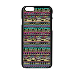 Aztec Pattern Cool Colors Apple iPhone 6/6S Black Enamel Case