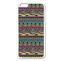 Aztec Pattern Cool Colors Apple iPhone 6 Plus/6S Plus Enamel White Case