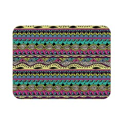 Aztec Pattern Cool Colors Double Sided Flano Blanket (mini)
