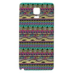 Aztec Pattern Cool Colors Galaxy Note 4 Back Case