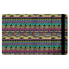 Aztec Pattern Cool Colors Apple Ipad Pro 9 7   Flip Case