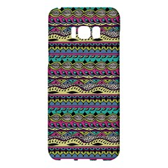 Aztec Pattern Cool Colors Samsung Galaxy S8 Plus Hardshell Case