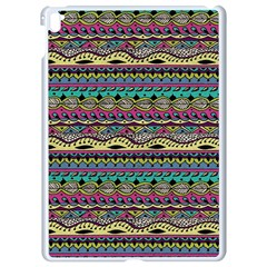Aztec Pattern Cool Colors Apple Ipad Pro 9 7   White Seamless Case