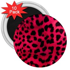 Leopard Skin 3  Magnets (10 pack)