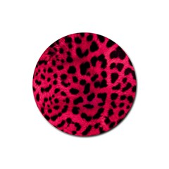 Leopard Skin Rubber Round Coaster (4 pack)