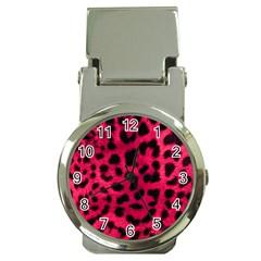 Leopard Skin Money Clip Watches