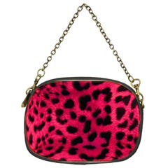 Leopard Skin Chain Purses (two Sides)