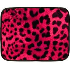Leopard Skin Double Sided Fleece Blanket (Mini)