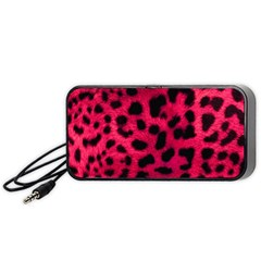 Leopard Skin Portable Speaker (Black)