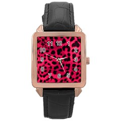 Leopard Skin Rose Gold Leather Watch