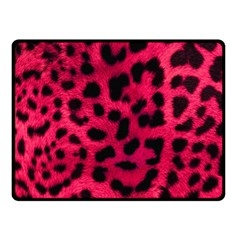 Leopard Skin Double Sided Fleece Blanket (small)