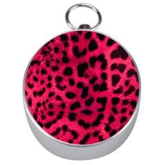 Leopard Skin Silver Compasses