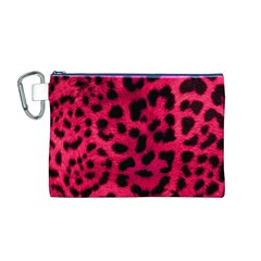 Leopard Skin Canvas Cosmetic Bag (M)