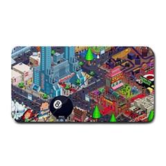 Pixel Art City Medium Bar Mats
