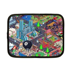 Pixel Art City Netbook Case (Small)