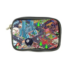 Pixel Art City Coin Purse