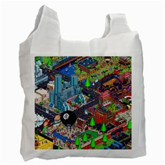 Pixel Art City Recycle Bag (One Side)