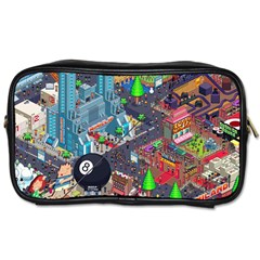 Pixel Art City Toiletries Bags 2 Side