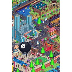 Pixel Art City 5.5  x 8.5  Notebooks